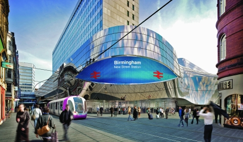 Vision of New Street Station and planned Metro