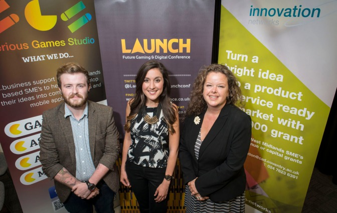 Paul Howe - Serious Games Studio, Pia Pearson - Innovation Birmingham & Sarah Bowers - Coventry University Enterprises